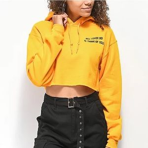 Broken Promises Daily Ritual Cropped Hoodie